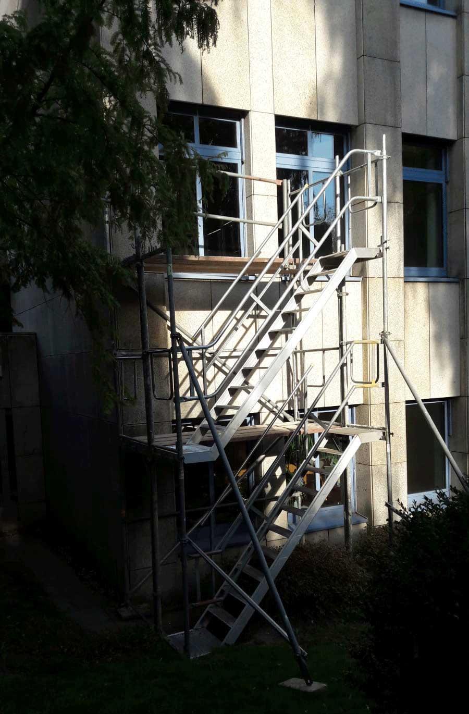 Gerüst Treppe Baustelle Fassade Herford